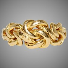 Antique Edwardian Promise Lover's Knot Ring Dated Birmingham 1901 18 Carat Gold