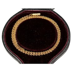 Antique Victorian 15 Carat Gold Chain Circa 1870-1880