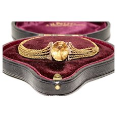 Antique Georgian Imperial Topaz Bracelet Circa 1830