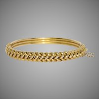 Victorian Plaited Bangle Bracelet Circa 1890
