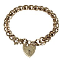 English 9 Carat Fancy Curb Bracelet Dated Birmingham 1905