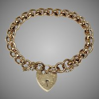 English 9 Carat Fancy Curb Bracelet Dated Birmingham 1905