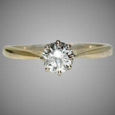 Vintage Diamond Solitaire Engagement Ring Dated 1988