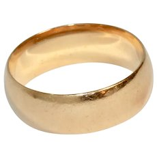 Vintage 14 Carat Rose Gold Wedding Band Ring  Circa 1950