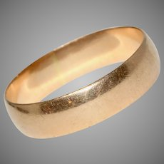Vintage 14 Carat Rose Gold Wedding Band Ring Circa 1960