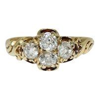 Victorian Old Cut Diamond Ring Circa 1870, 18 Karat Gold