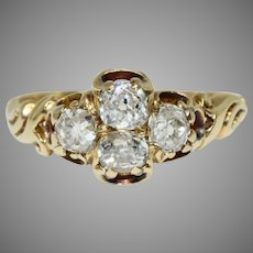 Victorian Old Cut Diamond Ring Circa 1870, 18 Carat Gold