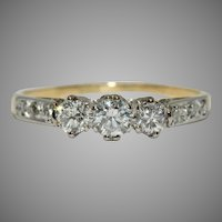 Art Deco Diamond Trilogy Engagement Ring Circa 1930