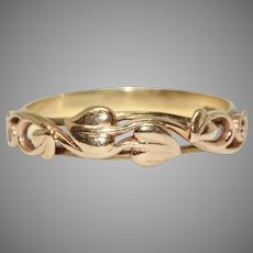 Vintage 9 Carat Rose Gold Floral Ring Dated 1996