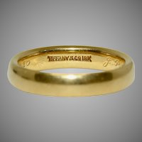 Tiffany & Co Wedding Band Dated 1920, 18 Carat Gold