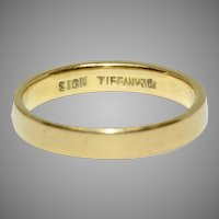 Vintage Tiffany & Co 18 Carat Gold Wedding Band
