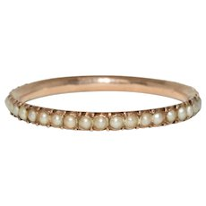 Georgian Natural Split Pearl Full Eternity Band Circa 1820