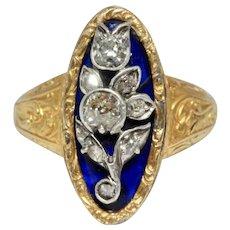 Exquisite Child's Georgian Bristol Glass And Diamond Ring Circa 1810