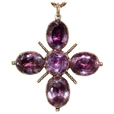 Georgian Amethyst Cross Pendant circa 1800