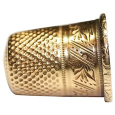 Antique French Victorian Period 18 carat Gold thimble
