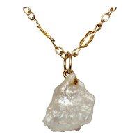 Art Nouveau Natural Baroque Pearl 9 Carat Gold Pendant Necklace circa 1900