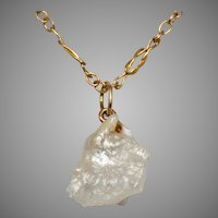 Art Nouveau Natural Baroque Pearl 9 Carat Gold Pendant Necklace circa 1900
