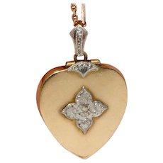 Fine Edwardian Heart Locket Circa 1910