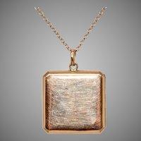 Edwardian 9 Carat Gold Locket With Chain Circa 1910