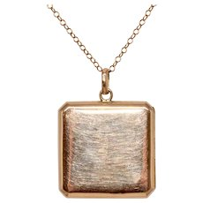 Edwardian 9 Carat Gold Locket With Chain Circa 1910