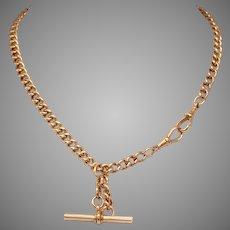 Antique 20.4 Grams 9 Carat Gold Albert Watch Chain Circa 1900