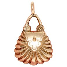 Imperial Russian 14 Karat Gold Handbag Charm St Petersburg Circa 1830-1850