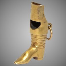 Antique Whistle Charm Pendant 15 Carat Gold Circa 1880