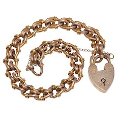 Victorian Fancy Curblink Bracelet Circa 1890