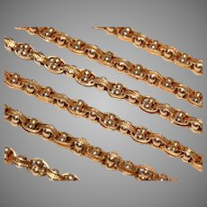 Victorian 20.6 Inch Fancy 15 Carat Gold Chain Necklace Circa 1880