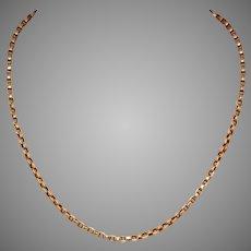 Victorian 17 Inch 15 Carat Gold Chain Circa 1880