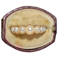 Georgian Pearl Half Hoop Stacking Ring Circa 1820
