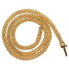 Antique French Gold Mesh Woven Collar Necklace Circa 1840