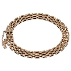 Victorian 15 Karat Gold Gate Bracelet Circa 1890