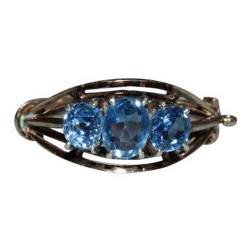 Antique Colour Change Sapphire Trilogy Ring Circa 1900