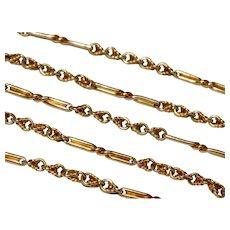 Fancy Antique 18.6 Inches 15 Karat Chain Necklace Circa 1890
