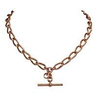Antique 60.9 Grams Solid 15 Carat Gold Albert Watch Chain Necklace Dated Birmingham 1903