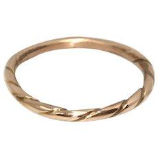 Victorian Rose Gold Wedding Band Stacking Ring 18 K