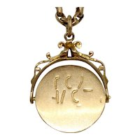 Vintage I LOVE YOU Spinner Charm Pendant Dated 1961