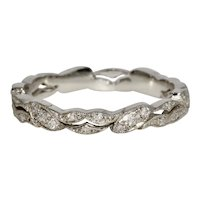 Modern Platinum Diamond Eternity Wedding Band Ring