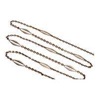 Antique 20.5 Inches Austro-Hungarian 14K Rose Gold Chain Necklace Circa 1901-1921