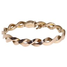 Unusual Antique Hinged 9K Rose Gold Bracelet Circa 1900-1920