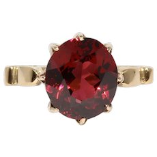 Retro 18k Continental Garnet Ring Circa 1940