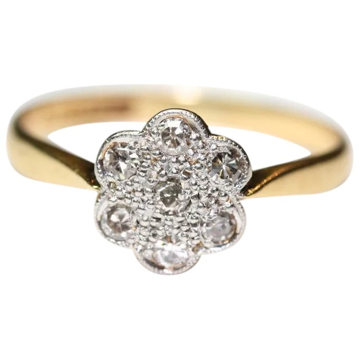 and engagement ring two vancaro plated white en daisy au item rings gold products yellow tone