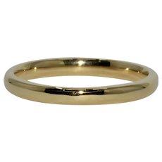 Vintage 18K Wedding Band Stacking Ring Size 6 3/8