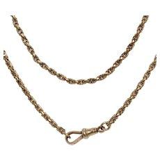 Victorian Fancy 48 Inch 9K 28.2g Longuard Chain Necklace