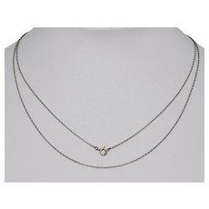Antique Finest 28 Inch Platinum Chain Necklace
