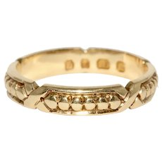 Fabulous Antique Victorian 18K Wedding Band Ring Dated 1875
