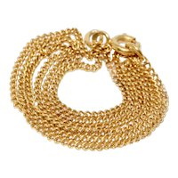 Russian Post Revolution 15.75 Inch 14K Yellow Gold Chain Necklace Dated 1965-1994