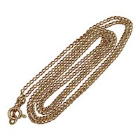 Polish 19.2 Inch 14K Rose Gold Chain Necklace Dated 1931-1963