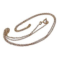 Russian Post Revolution 22.2 Inch 14K Rose Gold Chain Necklace Dated 1965-1994